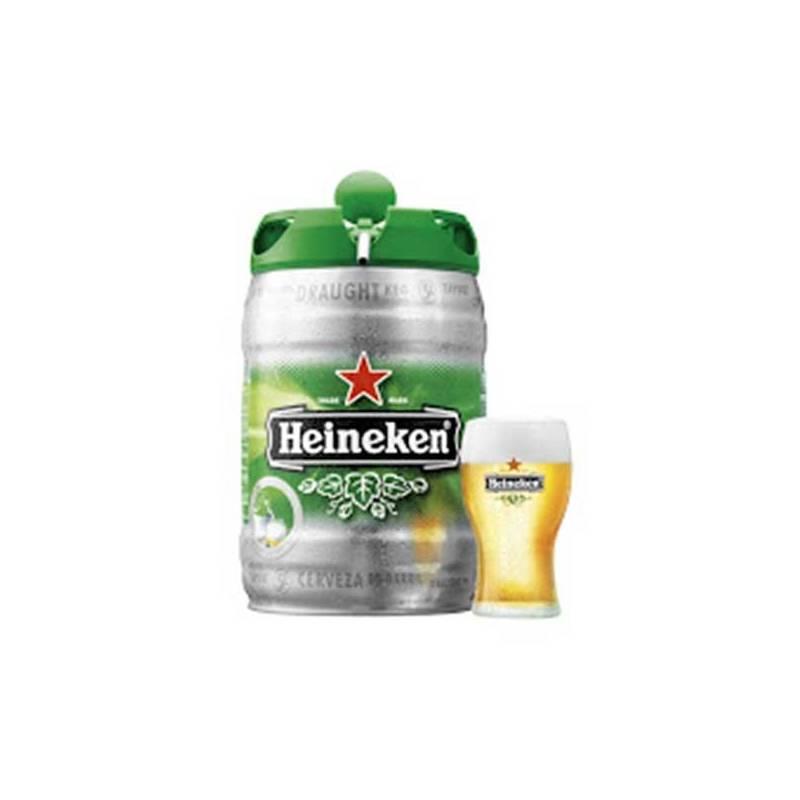 """Barril De Cerveza """"Heineken"""" 5 L"""