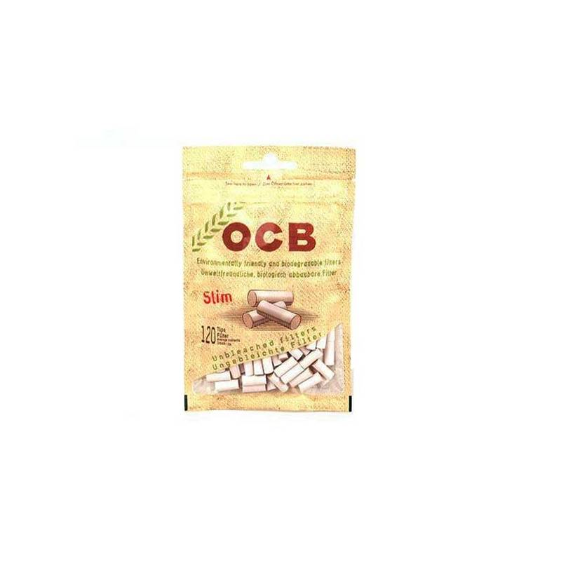 Filtros De Algodón OCB Slim Organic 6 mm C/librito (10 x 120 Unidades)