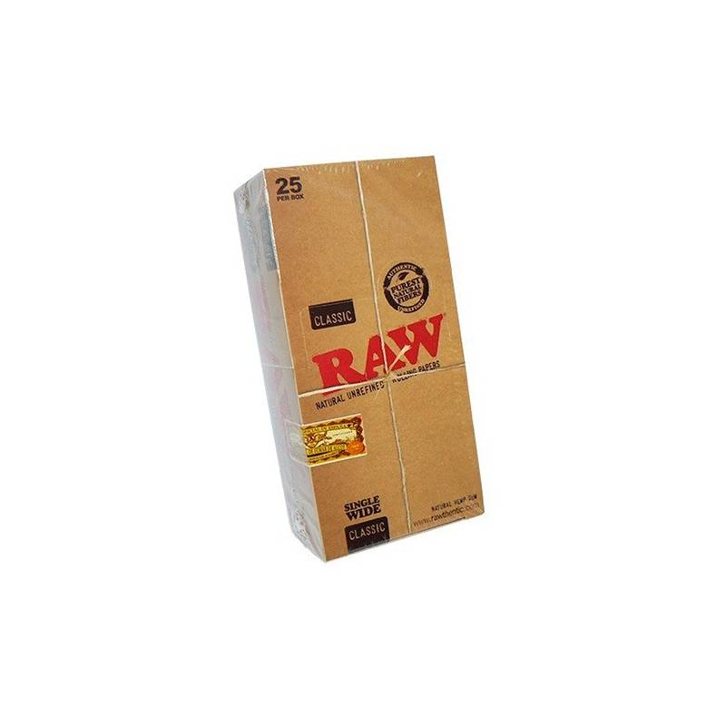 Papel Raw Single Wide (25 Libritos)