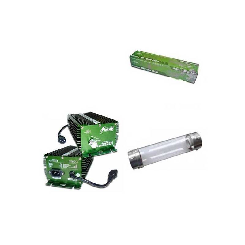 Kit 250 W Bolt + Cooltube 125 mm + Pure Light Mh 250 W Grow (HM)