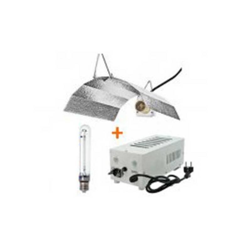 Kit 400 W Pro Gear + Reflector Stuco + Pure Light Hps 400 W Grow-Bloom Max