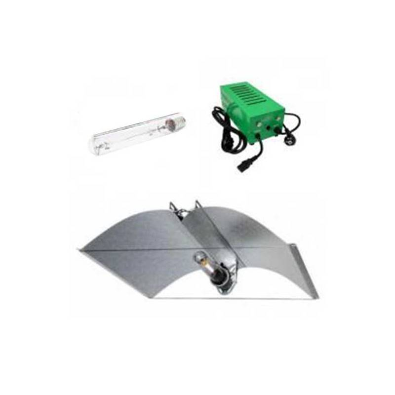 Kit Balastro 600 W Pure Light Plug & Play + Adjust-a-wings® Enforcer Medium + Pure Light Hps 600 W Grow-Bloom Max