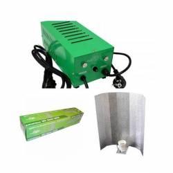 Kit Balastro 600 W Pure Light Plug & Play + Reflector Stuco + Pure Light Mh 600 W Grow (HM)