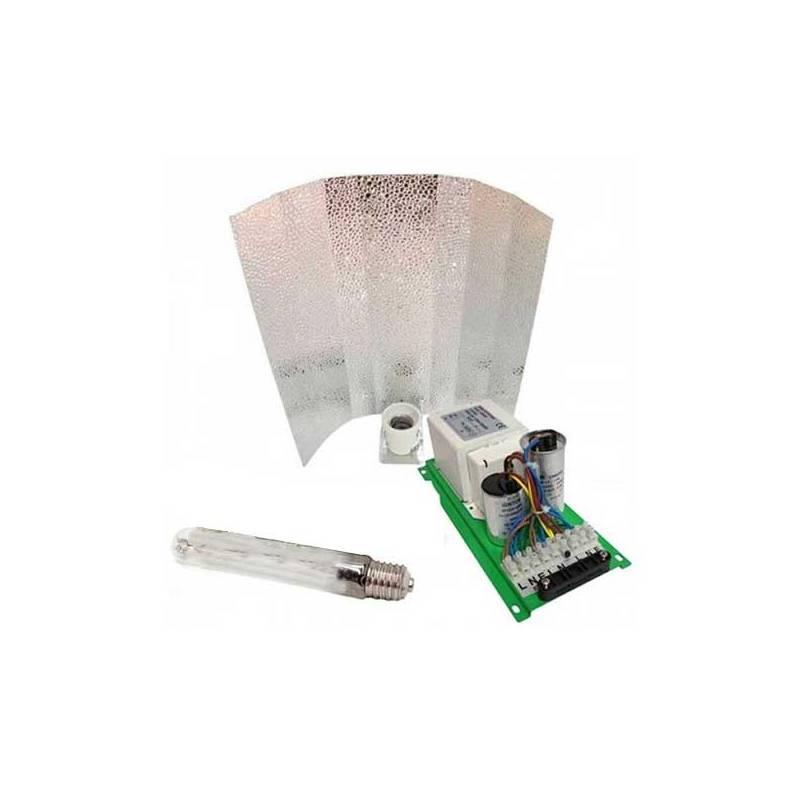 Kit Balastro Pure Light 400 W + Reflector Stuco + Sylvania Grolux 400 W
