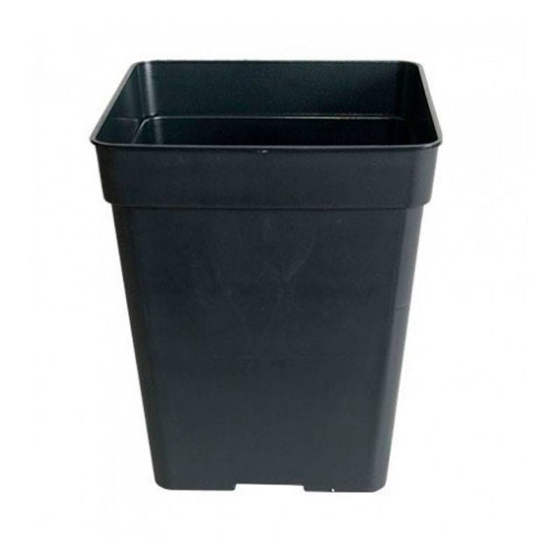 Maceta Cuadrada Negra - 1,65 L / 13 x 13 x 14,5 cm