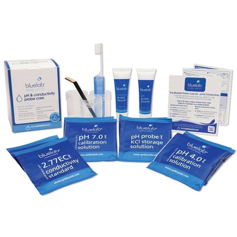 Kit de Limpieza y Calibración Electrodo pH & EC de Bluelab