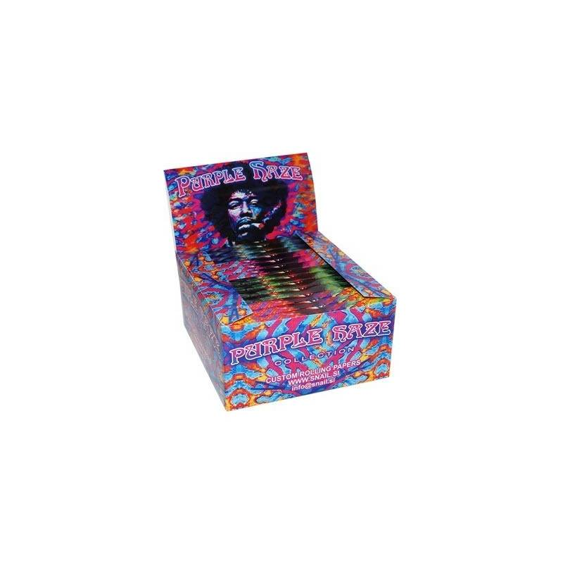 Papel De Fumar / Boquillas Purple Haze Kingsize Slim (26 Libritos)