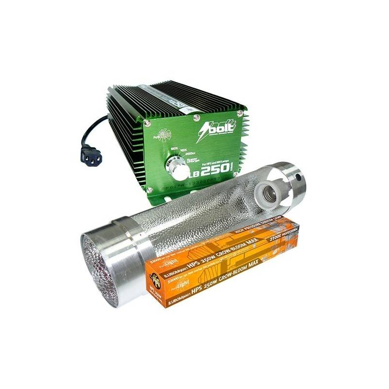 Kit 250 W Bolt + Cooltube 125 mm + Pure Light Hps 250 W Grow-Bloom Max