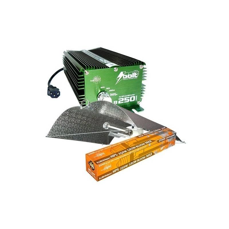 Kit 250 W Bolt + Adjust-a-wings® Enforcer Medium + Pure Light Hps 250 W Grow-Bloom Max