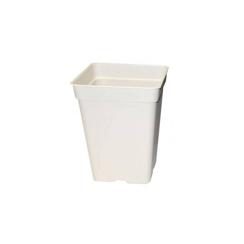 Maceta Cuadrada Blanca - 5,5 L / 18 x 18 x 23 cm