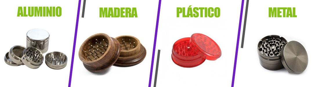 Diferentes materiales grinder